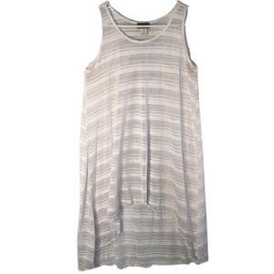 Jordan Taylor Small Tunic Top White Striped 197